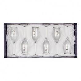 Комплект чаши Casa Interior, За шампанско, сребърна плочка
