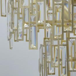 Класически полилей, MW-LIGHT, Серия Crystal, Метал / Стъкло, Цвят Златист