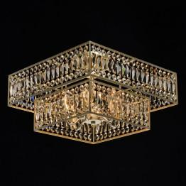 Плафон MW-LIGHT Crystal, Метал / Стъкло, Цвят Златист