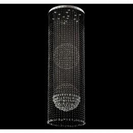 Плафон CHIARO, Серия Crystal, Метал / Стъкло, Цвят Сребрист / Прозрачен