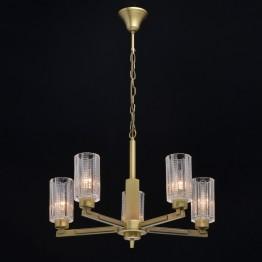 Висяща лампа MW-LIGHT, Серия Classic, Метал / Стъкло, Цвят Месинг / Прозрачен