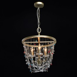 Полилей Chiaro Classic, Метал / Стъкло, Цвят Сребрист
