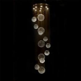 Плафон CHIARO, Серия Crystal Cascade, Метал / Стъкло