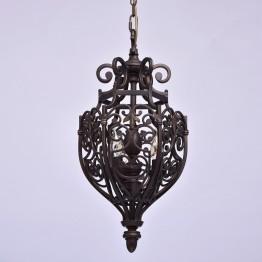 Висяща лампа CHIARO, Серия Country, Метал, Цвят Тъмно кафяв