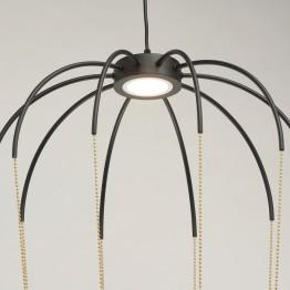 LED oсветително тяло REGENBOGEN Loft, Метал / Акрил, Цвят Черен / Златист