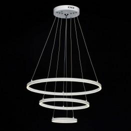 LED пендел De Markt, Серия Hi-Tech, Метал / Алуминий, Цвят Бял мат