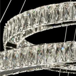 LED пендел MW-LIGHT, Серия Crystal, Метал / Стъкло, Цвят Хром
