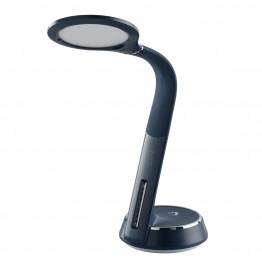 LED настолна лампа DeMarkt, Серия Hi-Tech, Акрил / Силикон, Цвят Син