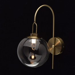 LED аплик De Markt Megapolis, Метал / Стъкло, Цвят Античен месинг