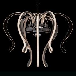 LED полилей RegenBogen, Серия Megapolis, Метал / Акрил, Цвят Хром / Бял