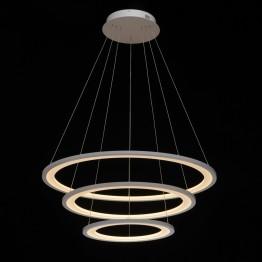 LED пендел REGENBOGEN Hi-Tech, Метал / Алуминий, Цвят Бял