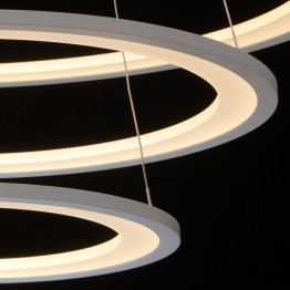 LED пендел REGENBOGEN, Серия Hi-Tech, Метал / Алуминий, Цвят Бял