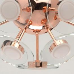 LED Плафон De Markt Hi-Tech, Метал / Алуминий / Стъкло / Акрилм, Цвят Мед