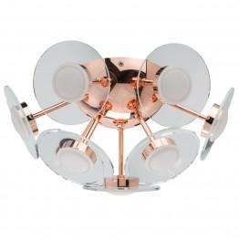 LED Плафон De Markt Hi-Tech, Метал / Алуминий / Стъкло / Акрил, Цвят Мед