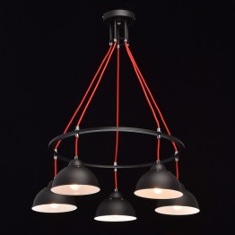 Висяща лампа MW-LIGHT, Серия Loft, Метал, Цвят Бял / Черен / Червен