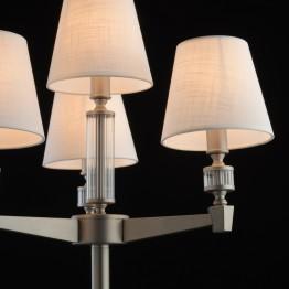 Лампион MW-Light, Серия Classic, Метал / Стъкло, Цвят Никел / Бял / Прозрачен