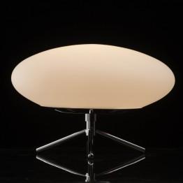 LED настолна лампа De Markt, Серия Hi-Tech, Метал / Стъкло, Цвят Хром / Бял