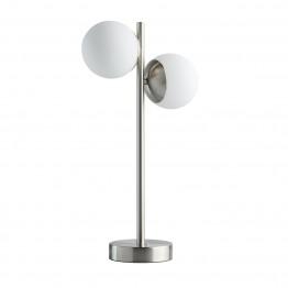 LED настолна лампа De Markt, Серия Hi-Tech, Алуминий / Стъкло, Цвят Никел / Бял