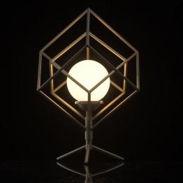 Настолна лампа De Markt Hi-Tech, LED, Метал / Стъкло, Цвят Бронзе / Никел