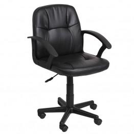 Офис стол Casa Interior 6044 -1, Черен, Еко кожа