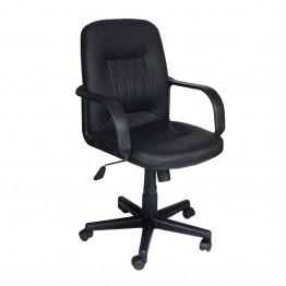 Офис стол Casa Interior 6075, Черен, Еко Кожа