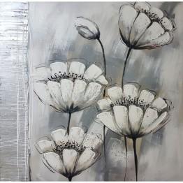 Картина Casa Interior, Бели цветя, 100/100см
