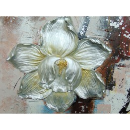 Картина Casa Interior, Цветя, Релефна, 100/100см