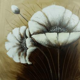 Картина Casa Interior, Бели Макове, 60/60 см