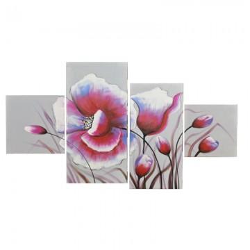 Пано Casa Interior, Лилави цветя, 4 части