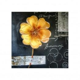 Картина Casa Interior, Златно цвете, 70/70см