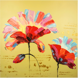 Картина Casa Interior, Цветя абстракт 100/100см