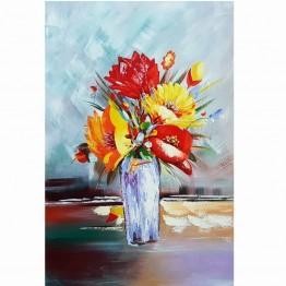 Картина Casa Interior, Ваза с цветя, 60/90см