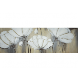 Картина Casa Interior, Бели цветя, 50/150см