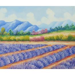 Картина Casa Interior, Лавандулово поле, 60/50см