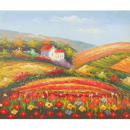Картина Casa Interior, Къща в полето, 60/50 см