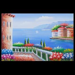 Картина Casa Interior, Средиземноморско лято, 90/60 см