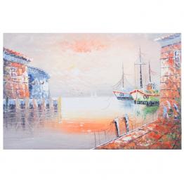 Картина Casa Interior, Лодки в морето, 60/90 см