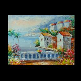 Картина Casa Interior, Средиземноморски пейзаж, 40/30 см