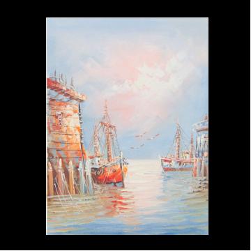 Картина Casa Interior, Лодки в морето, 30/40 см